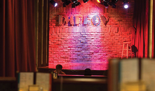 Dining at Improv Comedy Club, The
